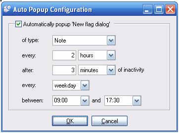 Auto Popup Config
