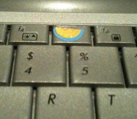 Porous tape on the F5 key.