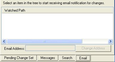 select an item in the tree to start receiving email notification for changes... i just think i might