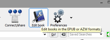 click edit book icon in toolbar
