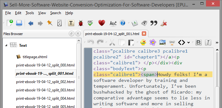 navigate to a chapter and look at the xhtml