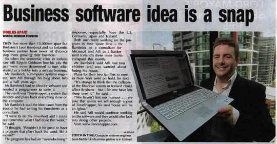 Business Software Idea is a snap in the (brisbane paper) City News