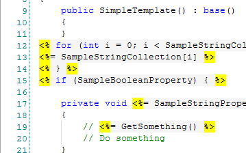 syntax highlighting in codesmith