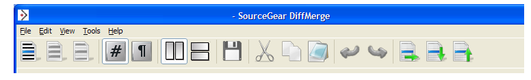 DiffMerge toolbar as is