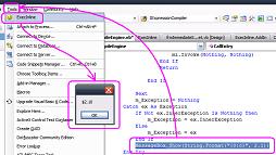 Exec Inline for Visual Studio 2005