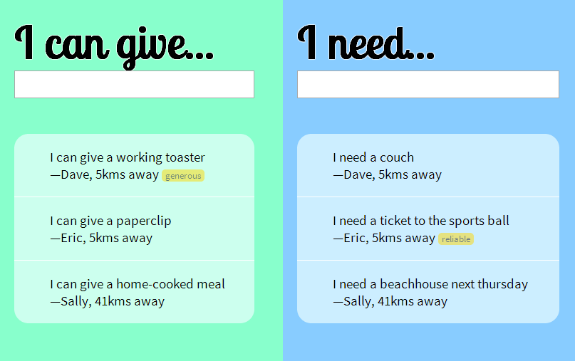i can give... i need... simple website