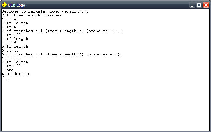 code to generate a tree