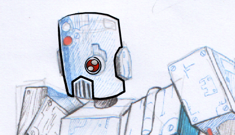 robot detail -- altered in expression design