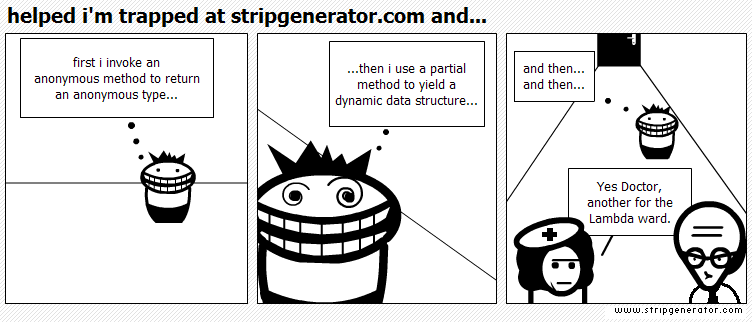 sample of a cartoon from strip generator