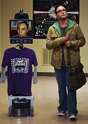 a telepresence device on Big Bang Theory