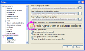 track active item in solution explorer