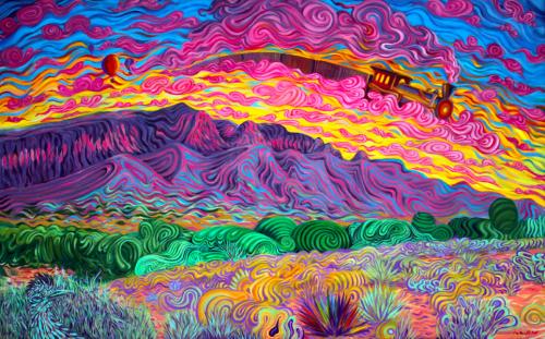 trippy landscape