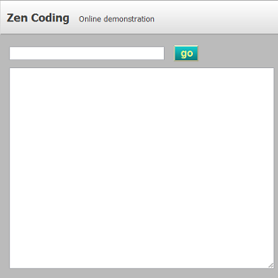 zen-coding, online demonstration